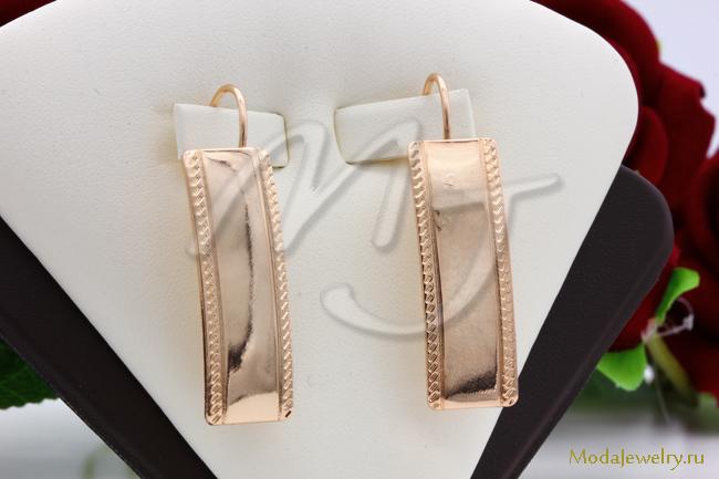 Серьги пластины под золото Fallon CN13946