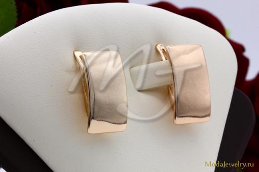 Серьги пластины под золото Fallon CN15845
