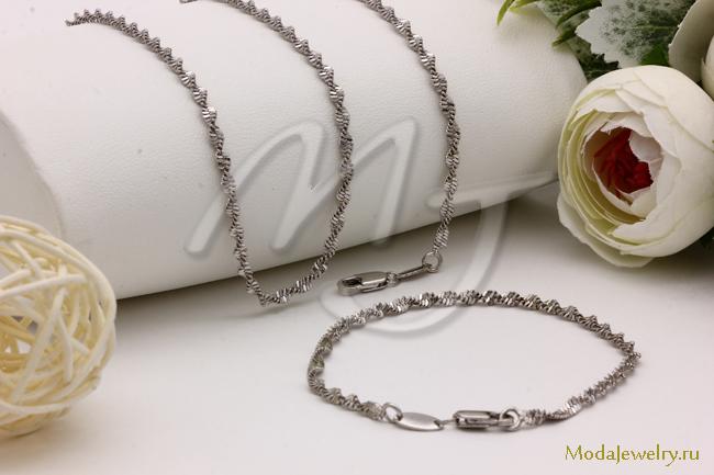 Комплект под серебро FALLON CN16503 опт 500 руб