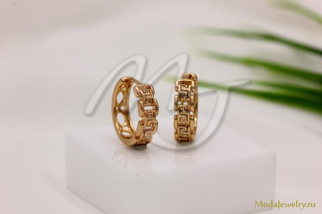 Серьги под золото CN16903 опт 180 руб