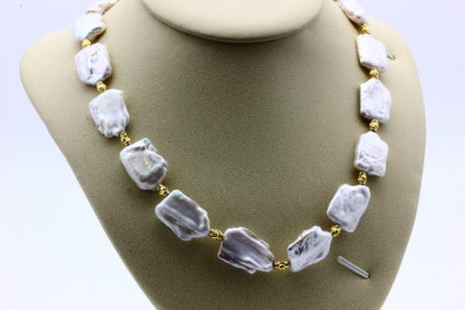 Ожерелье жемчуг барочный CN7067 опт 1800руб