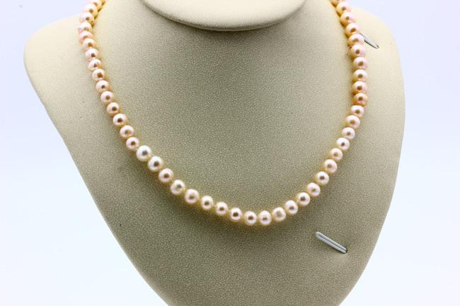 Ожерелье из жемчуга цвет пудра CN7080 опт 500руб