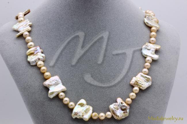 Ожерелье Барочный Жемчуг CN7940 опт 1150 руб