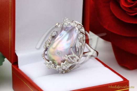 Кольцо Барочный Жемчуг CN7949 опт 1150 руб