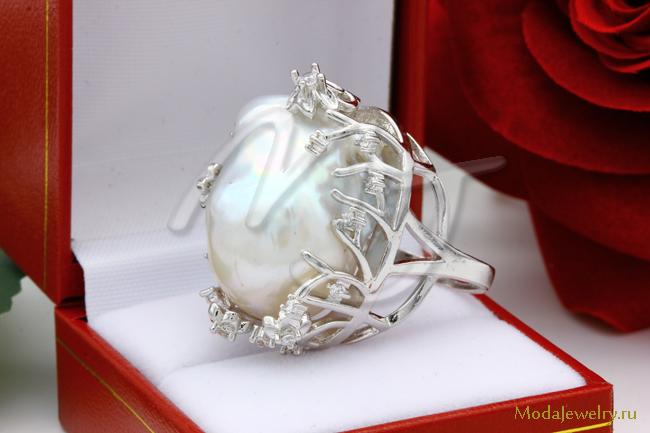 Кольцо Барочный Жемчуг CN7950 опт 1150 руб